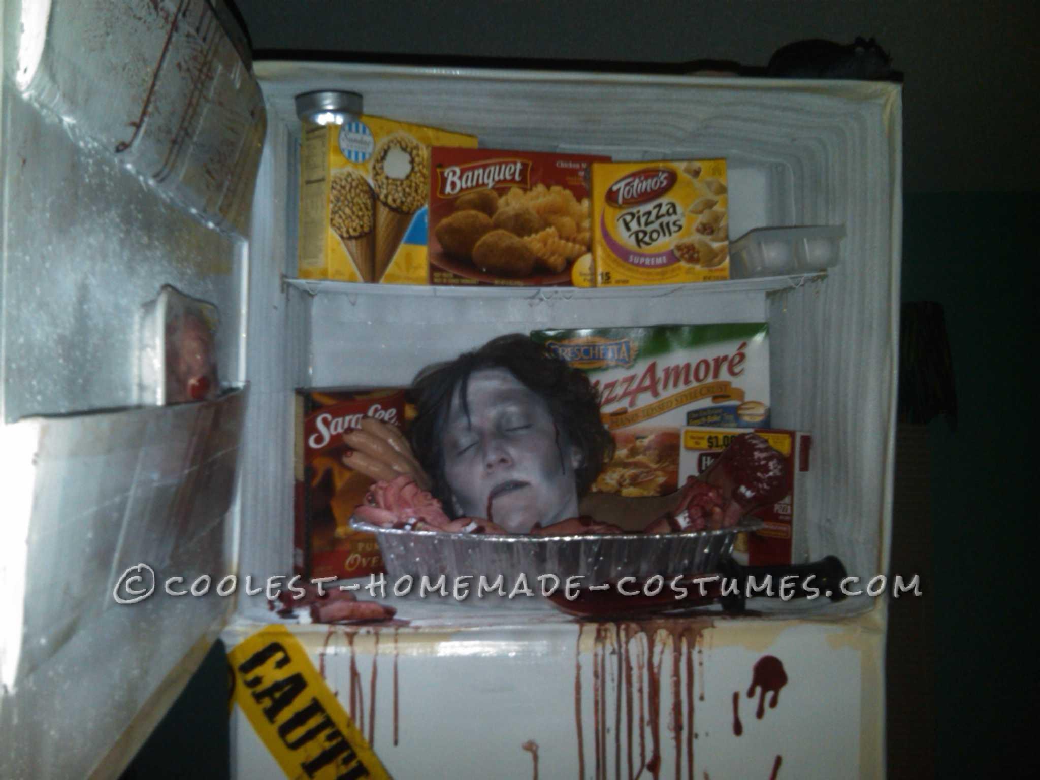 Creative Head in Freezer Costume Idea