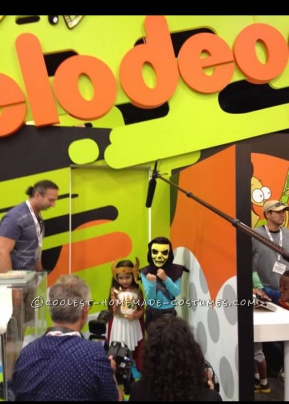 She-ra and Skeletor Costumes Getting filmed by Nickelodeon