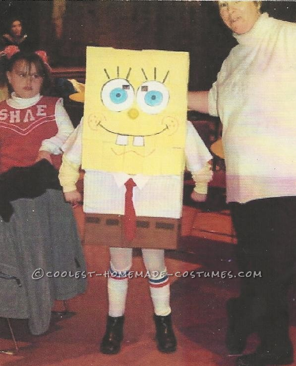 Coolest Homemade Spongebob Costume for No Money