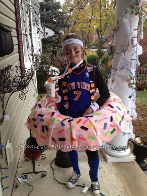 Coolest Dunkin Doughnut Costume for a Girl