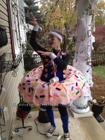 Coolest Dunkin Doughnut Costume for a Girl