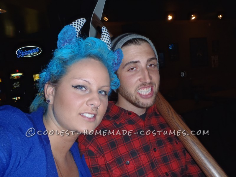 Coolest Homemade Couple Costume Idea: Paul Bunyan and Babe the Blue Ox