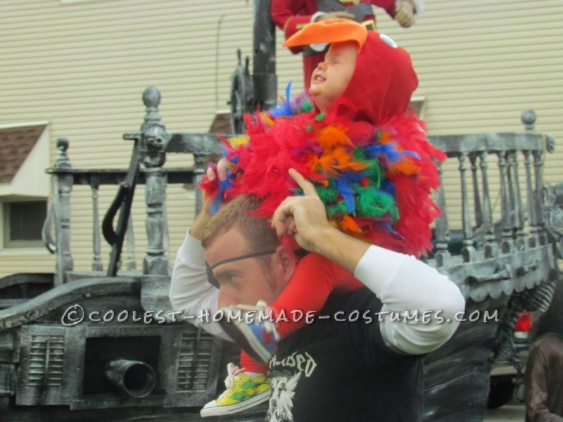 Coolest Homemade Puffy Parrot Costume for a Toddler - 2