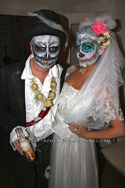Awesome Homemade Dia De los Muertos Couple Costume - 1