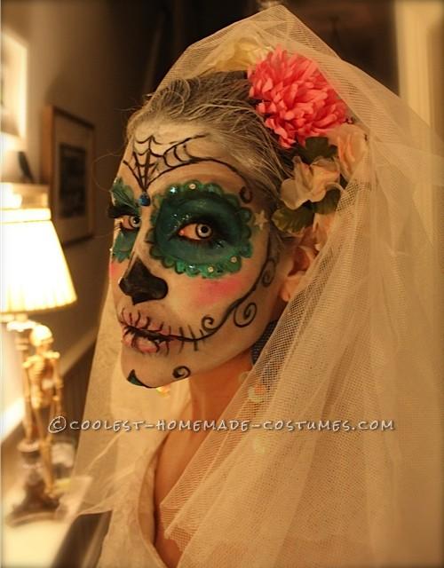 Awesome Homemade Dia De los Muertos Couple Costume - 3