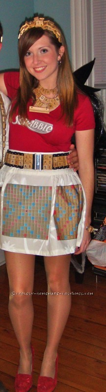 Coolest Homemade Scrabble Nerd Costume