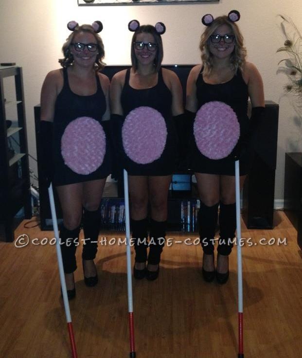 Sexy Three Blind Mice Group Halloween Costume