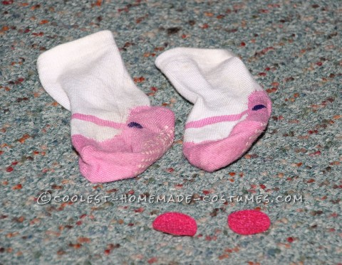 Cheeks Made from Sticky Back Felt and Shoe Socks