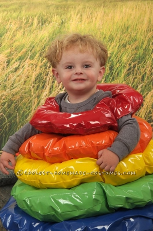 Homemade Costume Idea for a Toddler: Stacking Ring Toy Costume - 1