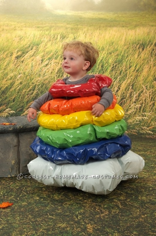 Homemade Costume Idea for a Toddler: Stacking Ring Toy Costume