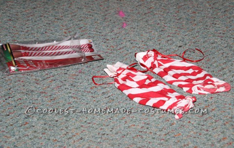 Stockings Were Shortened and Red Ribbon Attached