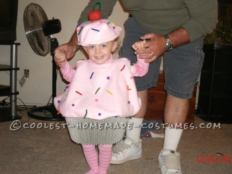 Sweetest Toddler Cupcake Costume - No Sew and Budget Friendly!
