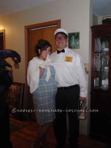 Cool DIY Couple Costume: The Milkman's Baby?