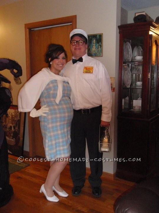 Cool DIY Couple Costume: The Milkman's Baby?