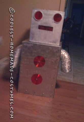 The Radical Robot Homemade Costume Idea for a Boy