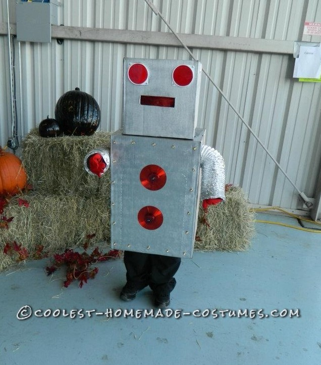 The Radical Robot Homemade Costume Idea for a Boy