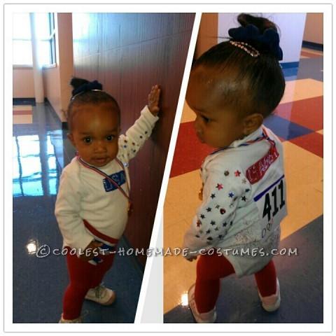 Last-Minute DIY Toddler Costume: USA Olympic Gold Medalist Gymnast Gabby Douglas