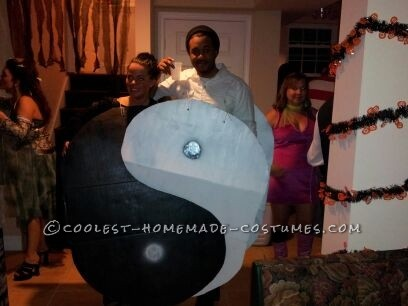 Homemade Yin and Yang Couple Costume