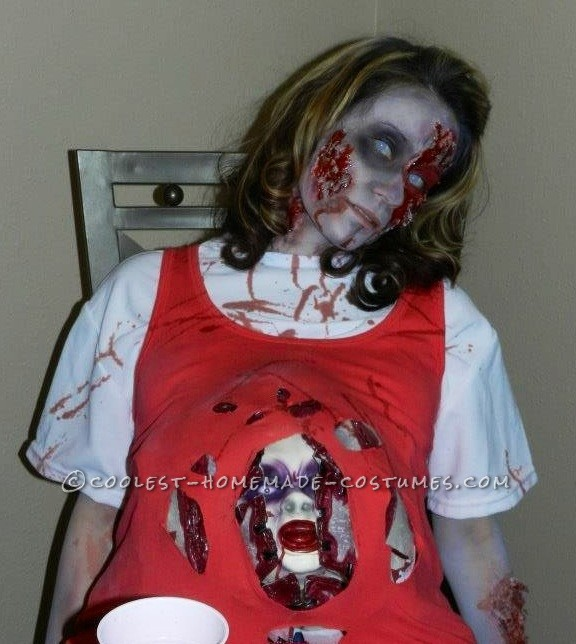 Scary Zombie Mommy To Be Halloween Costume