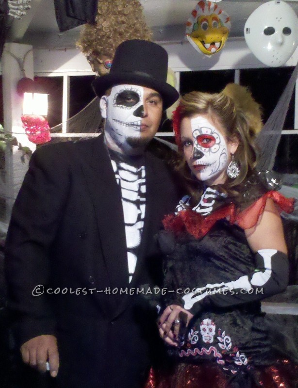 First Place Homemade Dia de Los Muertos Couples Costume