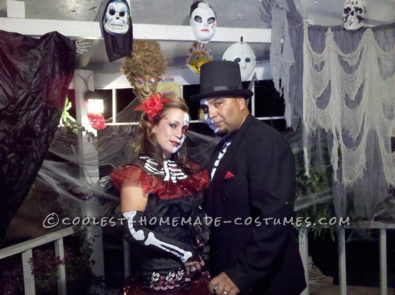 First Place Homemade Dia de Los Muertos Couples Costume - 3