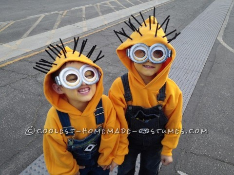 1st-Place Homemade Minion Costumes for $25.00