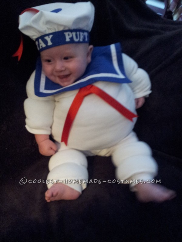Adorable Baby Stay Puft Marshmallow Man Costume - 1