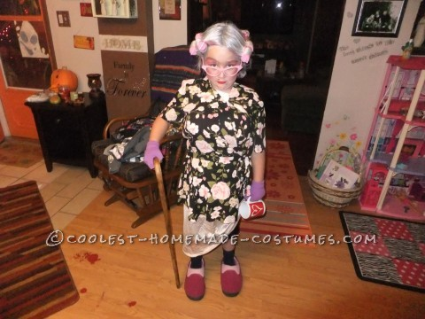 Cool Homemade Costume for a Girl: 8 Year Old in an 80 Year Old Body