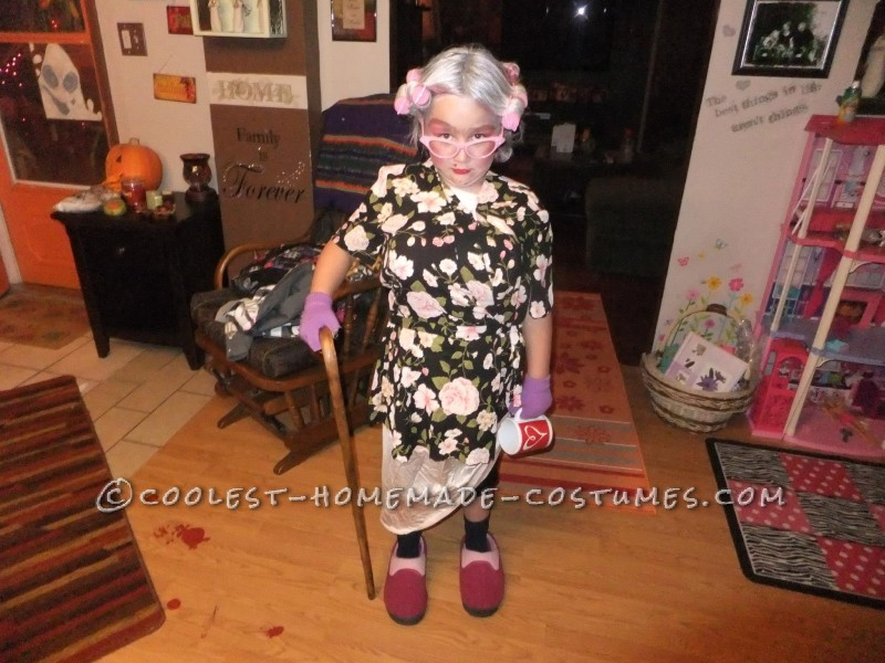 Cool Homemade Costume for a Girl: 8 Year Old in an 80 Year Old Body - 1