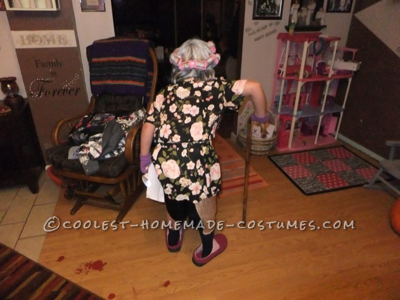 Cool Homemade Costume for a Girl: 8 Year Old in an 80 Year Old Body - 5