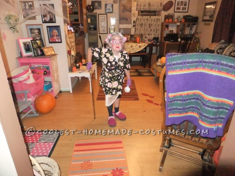 Cool Homemade Costume for a Girl: 8 Year Old in an 80 Year Old Body - 4