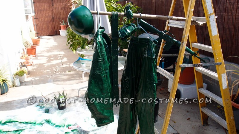 Coolest Homemade Plastic Toy Soldier Costume - 7