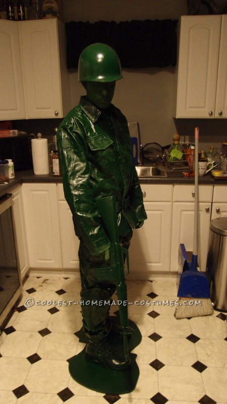Coolest Homemade Plastic Toy Soldier Costume - 1