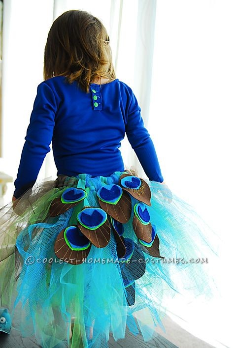 Coolest Homemade Peacock Costume - 9