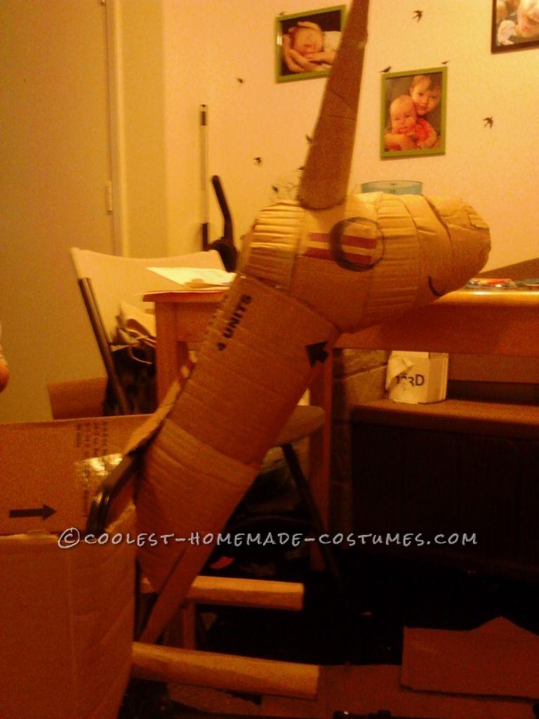 Making Lady Rainacorn homemade costume neck