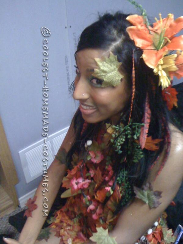 Sexy DIY Costume Idea: Autumn Tree Nymph - 4