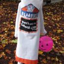Cool Homemade Elmer's Glue Stick Costume for a Girl