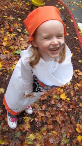 Cool Homemade Elmer's Glue Stick Costume for a Girl