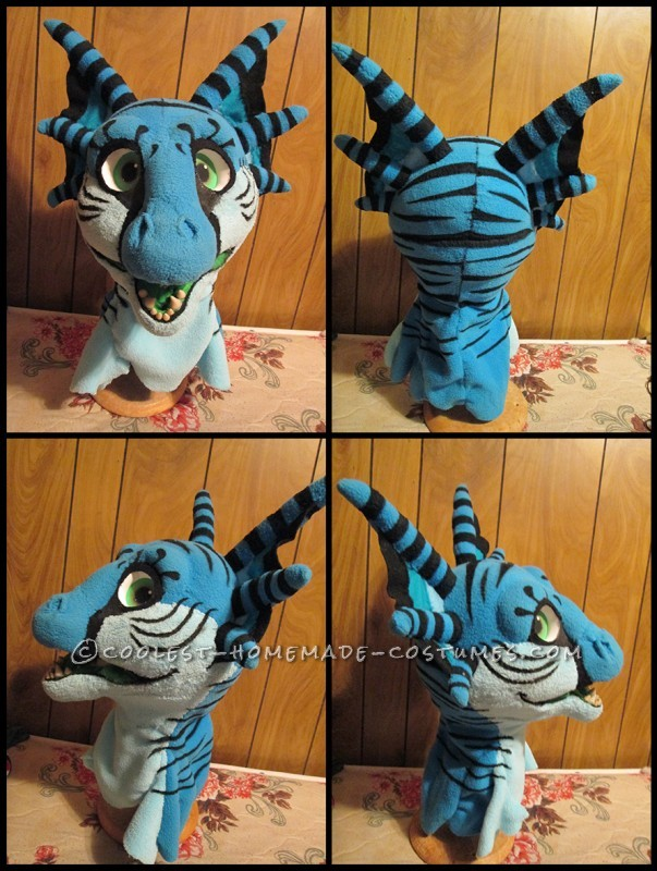 Adorable Blue Monster Costume from Scratch