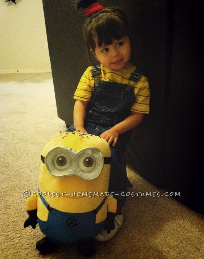Easy DIY Costume for a Toddler Girl: Agnes from Despicable Me!