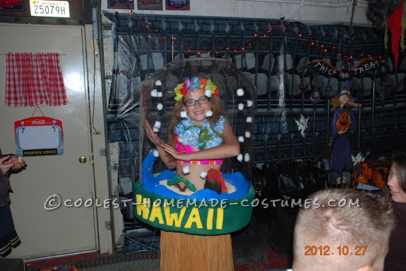 Aloha Baby Snow Globe Costume Designed and Made by a 7th Grader - 1