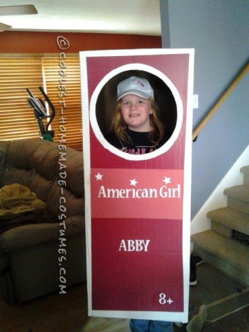 Coolest Homemade American Girl Doll in a Box Costume