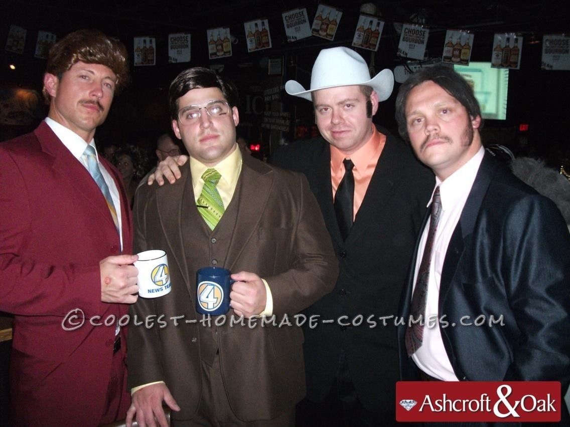Evening with Ron Burgandy and the Channel 4 News Team Costume