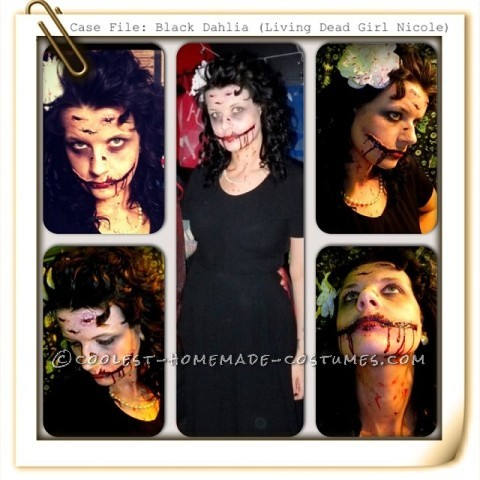 Artist Living Dead Girl Nicole Transforms into the Black Dahlia (Elizabeth Short)