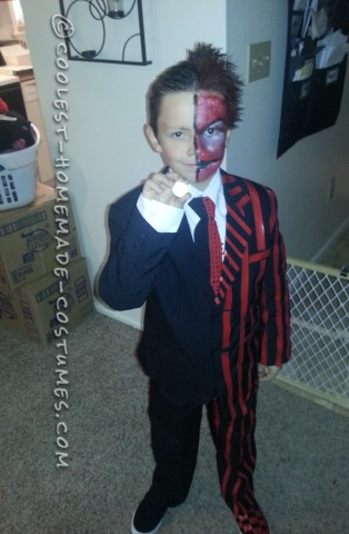 Awesome Two Face Costume for a Boy (No Sewing Required!)