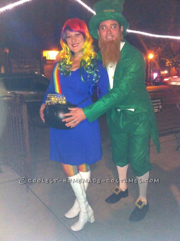 Out on the town with my leprechaun!