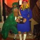 Baby Bump's First Costume: Pot o' Gold at the End of the Rainbow!