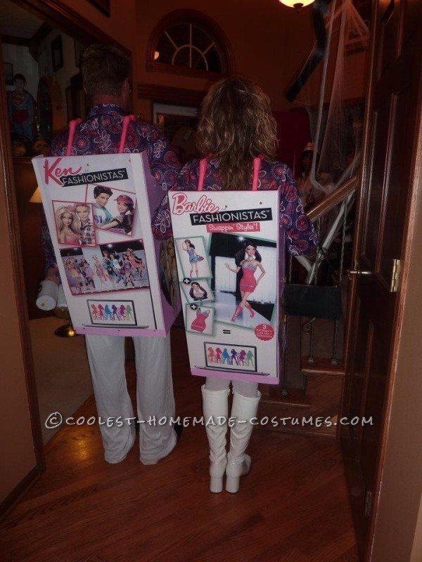 Fashionista Barbie and Ken Couple Costume