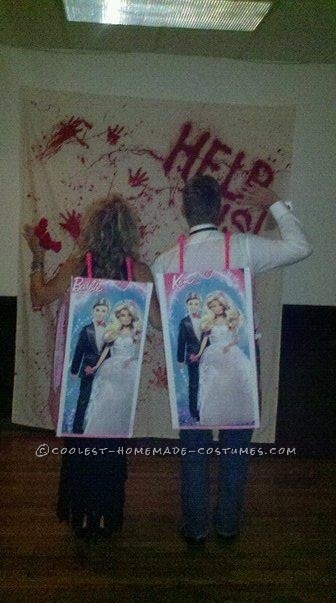Fashionista Barbie and Ken Couple Costume - 4