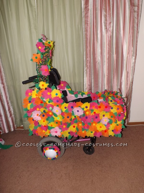 Awesome Bee Flower Wheelchair Car Costume